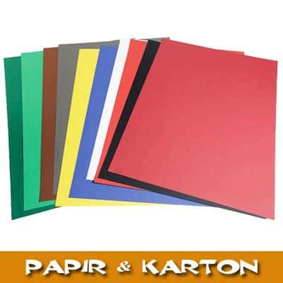 Papir, karton, silkepapir, crepepair, mosgummi og selvklæbende glitterkarton